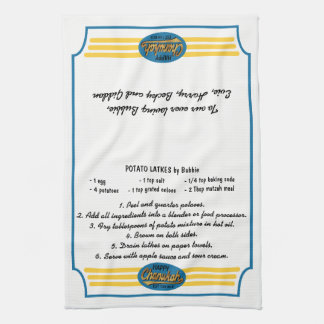 "Kitchen Towel ""Hanukkah Retro Dish Towel"""