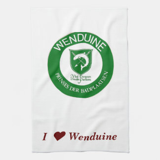 kitchen towel I ♥ Wenduine (weapon shield)