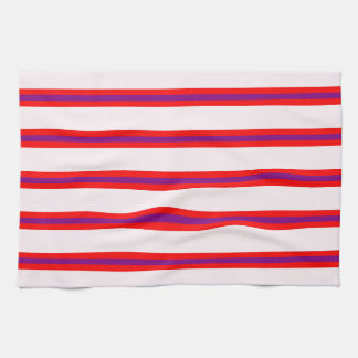Kitchen Towel - Lavendar Blush Base, Long stripes