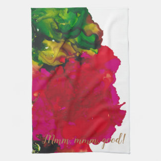 """Kitchen Towel """"Magenta Flower"""""""