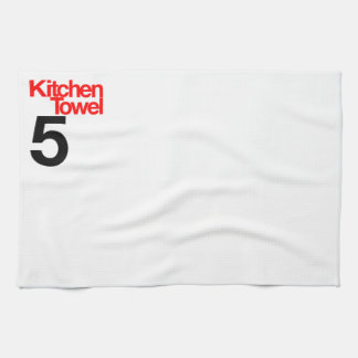 Kitchen towel numbered series red and black