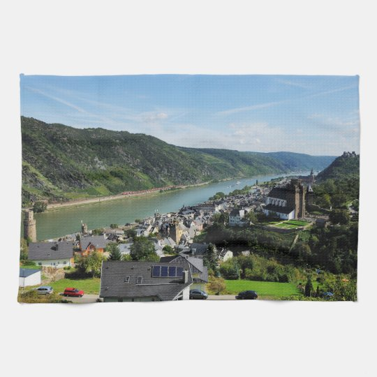 Kitchen towel Oberwesel in the central Rhine