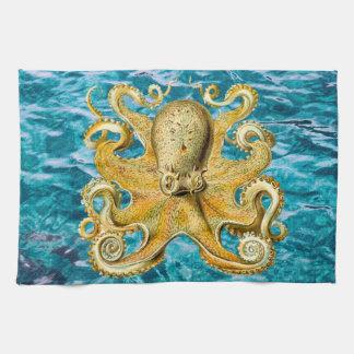 Kitchen towel Ocean blue water nautical Octopus