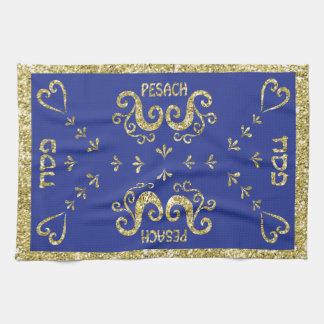 "Kitchen Towel ""Passover Gold Elegant """