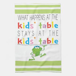 "Kitchen Towel ""Passover Kid's Table """