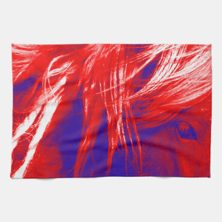 Kitchen Towel Patriotic Red White Blue Horse