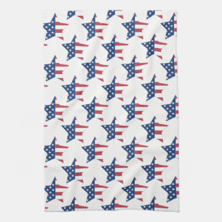Kitchen Towel-Patriotic Stars Kitchen Towel