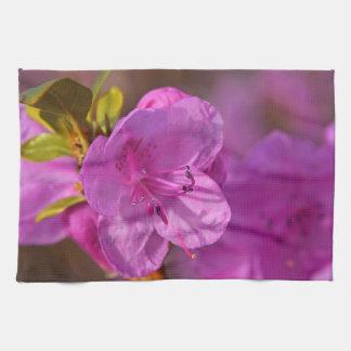 Kitchen towel print with pink Azalea flower
