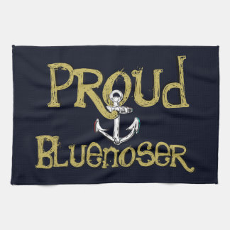 Kitchen towel Proud Bluenoser Nova Scotia anchor