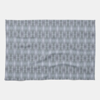 Kitchen towel, silver and white design. kitchen towel