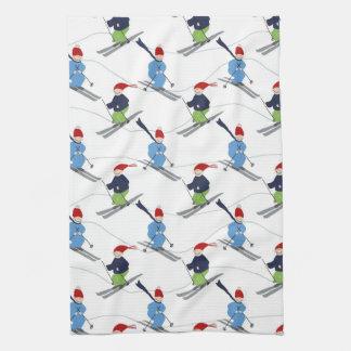 Kitchen Towel- Skiers! Kitchen Towel