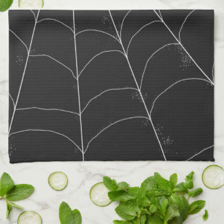 Kitchen Towel - Spiderweb in Black