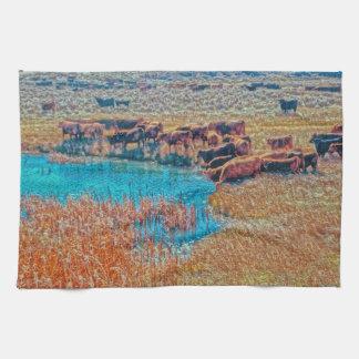 Kitchen Towel Western Cattle