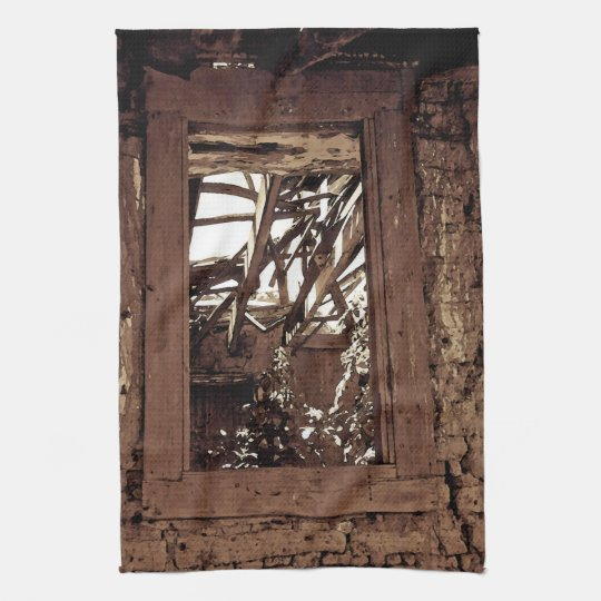 Kitchen Towel Western Rustic Barn Window