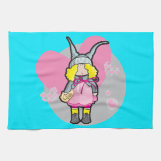 Kitchen towel with doll with teddy bear