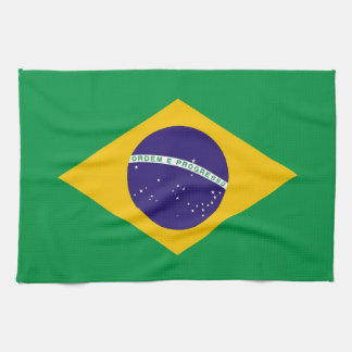 Kitchen towel with Flag of Brazil
