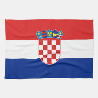 Kitchen towel with Flag of Croatia