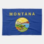 Kitchen towel with Flag of Montana, U.S.A.