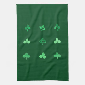 Kitchen towel with nine clover leaves