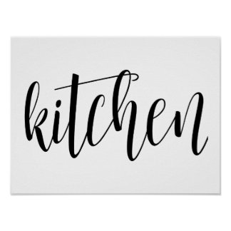 Kitchen typography wall print