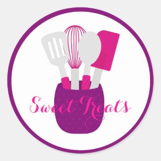 Kitchen Utensil Baked Goods Logo Round Sticker