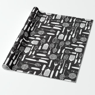 Kitchen Utensil Pattern Wrapping Paper