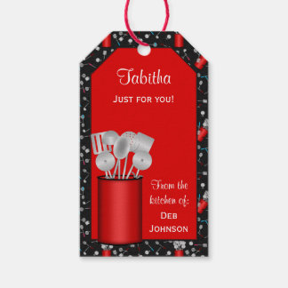 Kitchen Utensils,Black-HANG TAG/GIFT TAG TEMPLATE