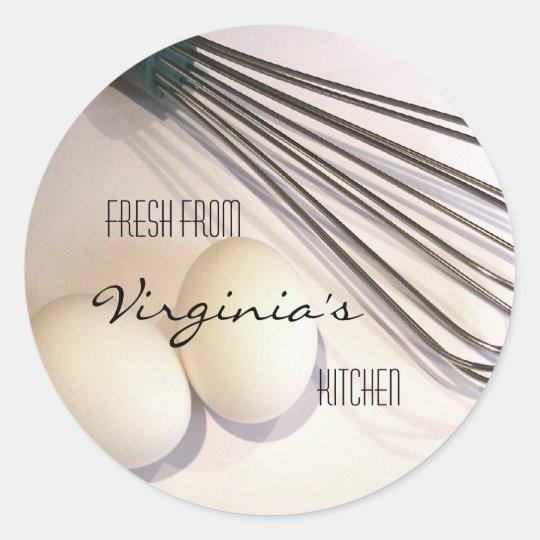 Kitchen Utensils Classic Round Sticker