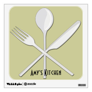 Kitchen Utensils Square Wall Decal