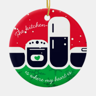 Kitchen where my heart is Christmas tree ornament