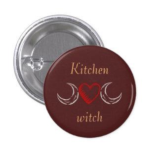Kitchen witch 1 inch round button