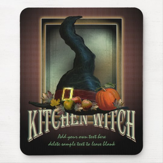 Kitchen Witch Mouse Pad