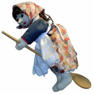Kitchen Witch Riding Spoon ornament Photo Sculpture Ornament