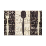 Kitchen Words Trio Stretched Canvas Print