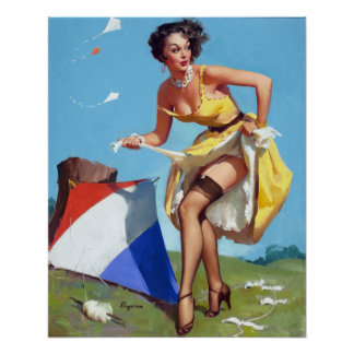Kite and Pin Up Poster