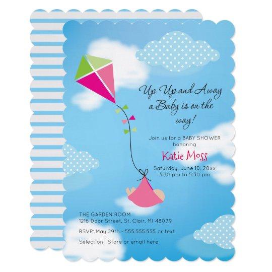 Kite Baby Shower Invitation