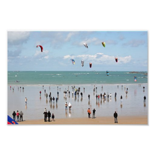 Kite boarding competition art photo