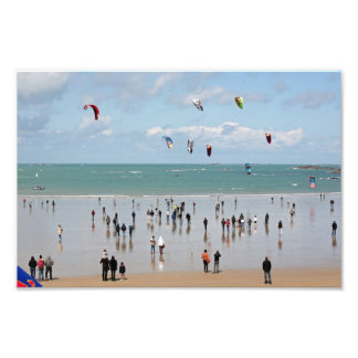 Kite boarding competition photograph