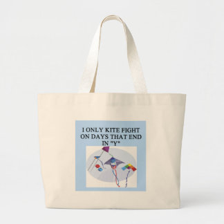 KITE fight fighter joke Large Tote Bag