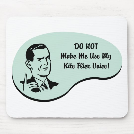 Kite Flier Voice Mouse Pad
