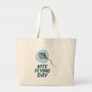 Kite Flying Day - 8th February Large Tote Bag