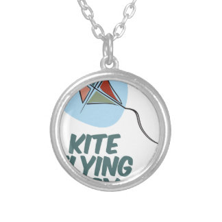 Kite Flying Day - 8th February Silver Plated Necklace