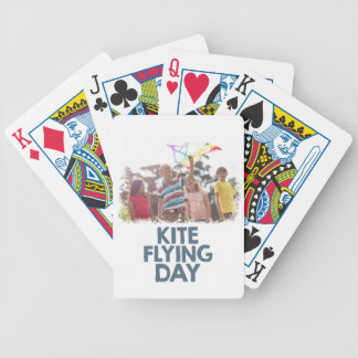 Kite Flying Day  - Appreciation Day Bicycle Playing Cards