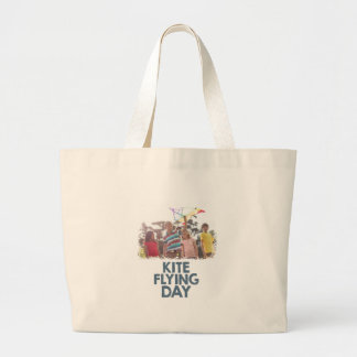 Kite Flying Day  - Appreciation Day Large Tote Bag