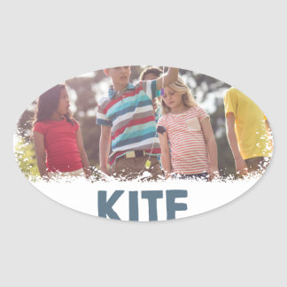 Kite Flying Day  - Appreciation Day Oval Sticker