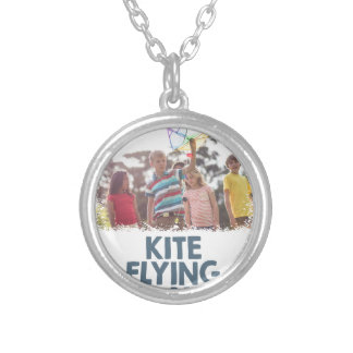 Kite Flying Day  - Appreciation Day Silver Plated Necklace