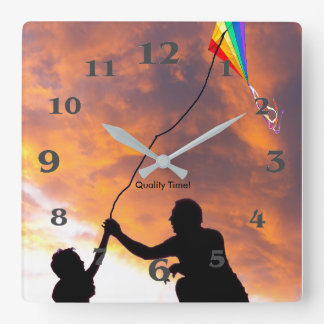 Kite flying image for Acrylic Wall Clock