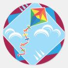 Kite Fun Classic Round Sticker