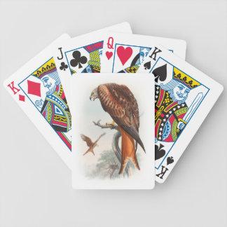 Kite Glead Hawk John Gould Birds of Great Britain Poker Deck