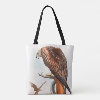 Kite Glead Hawk John Gould Birds of Great Britain Tote Bag